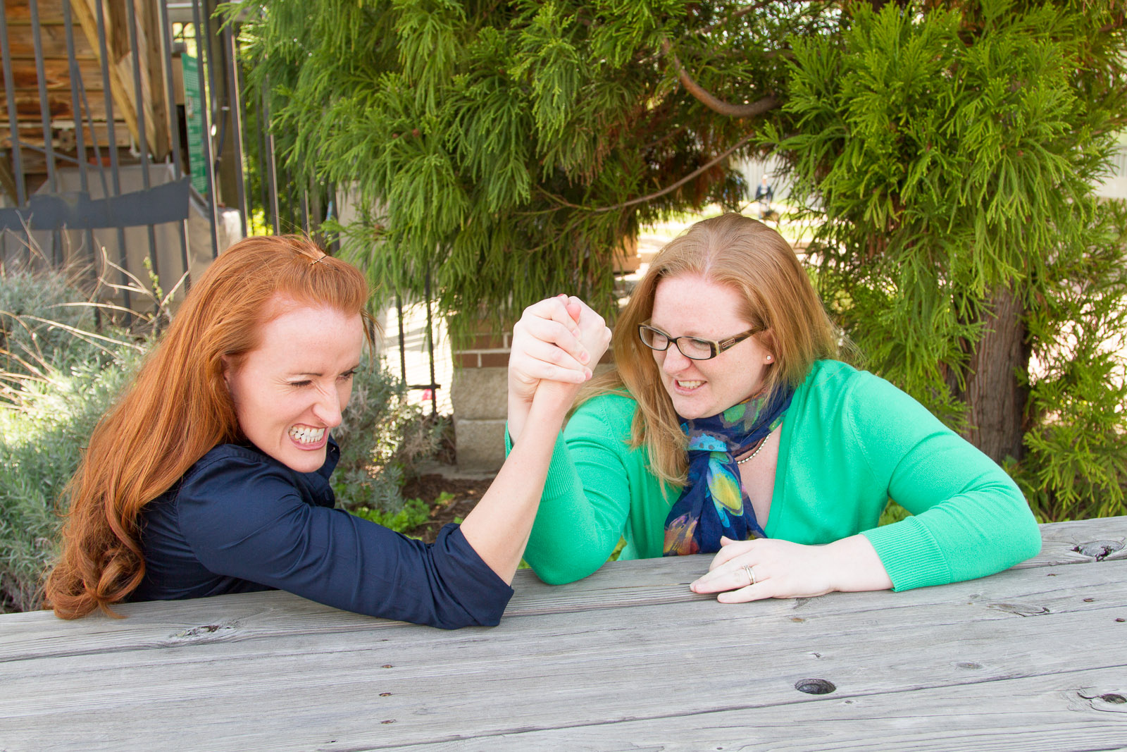 Family Photos - Arm Wrestling Sisters