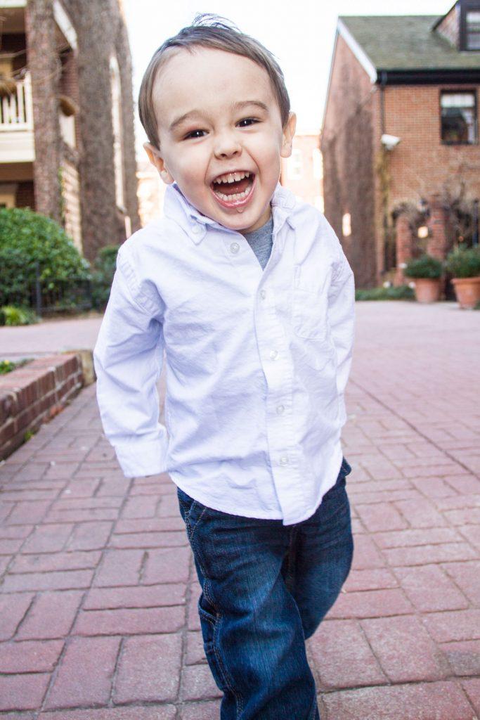 Portrait of a boy having fun