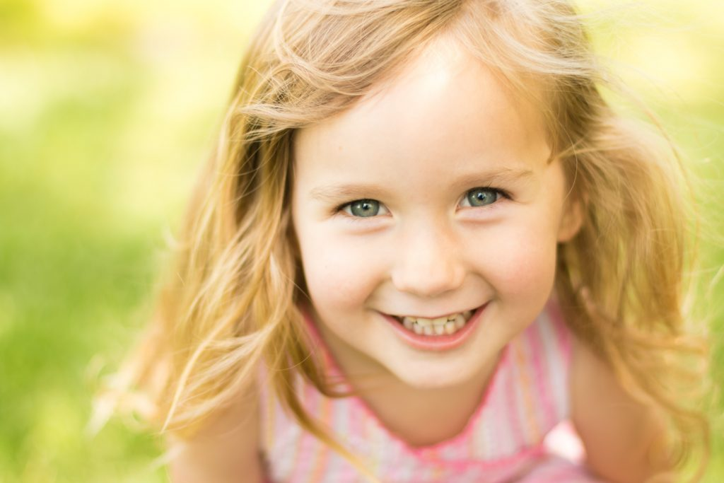 Portrait of a Young Girl Having Fun